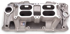 Persåkers Speedshop RPM Air Gap, Square Bore, Dual Quad, Aluminum, Natural, Small Block Chevy,