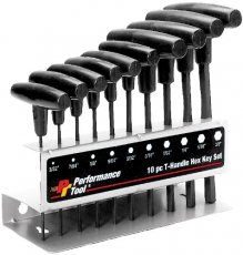Wilmar W80274 10 Piece Sae T-handle Hex Key Set