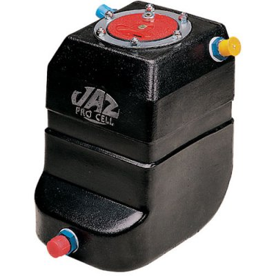 JAZ Products SFI-Certified Drag Race Fuel Cell Pro Stock Vertical 2-Gallon Black with Foam